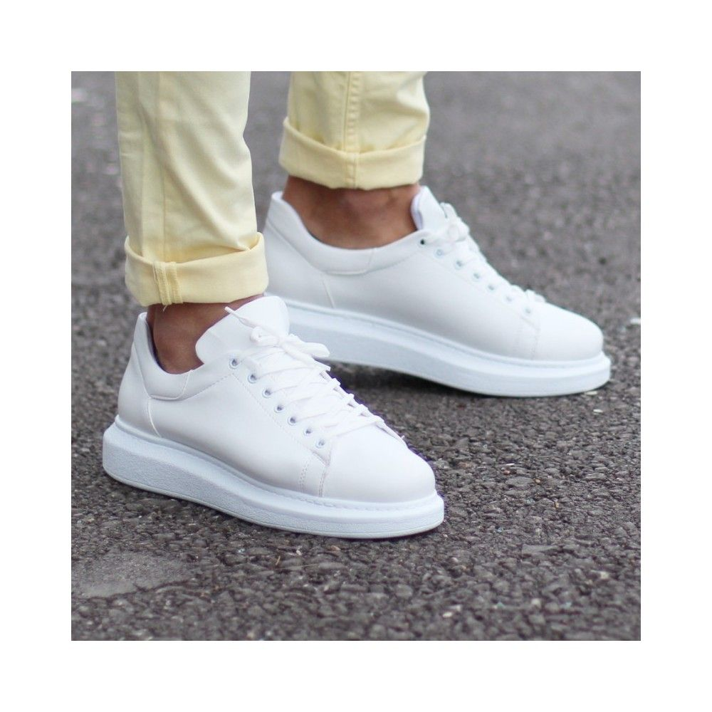 Casual Shoes With High Sole White