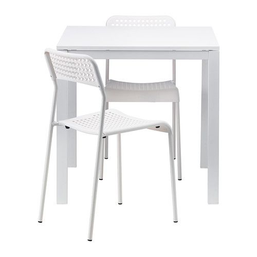 Square Ikea table + 2 chairs | in