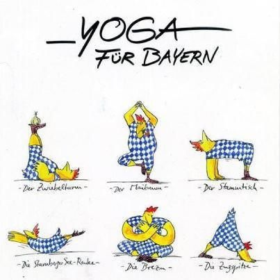 yoga f r bayern bayrische spr che na sowas von lustig. Black Bedroom Furniture Sets. Home Design Ideas