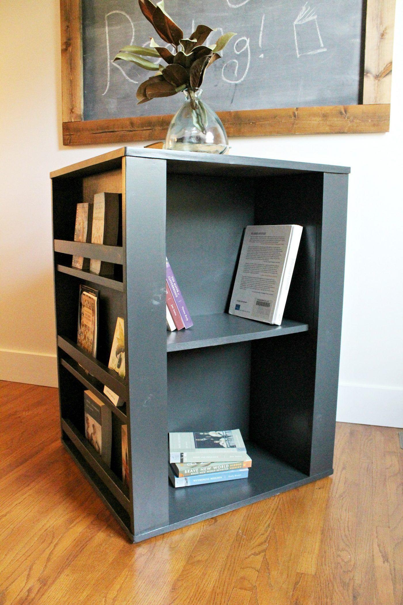 DIY Four Sided Kids Bookshelf