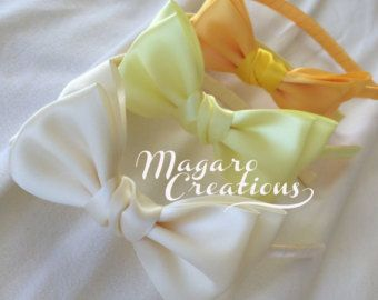 Flower headbandheadbandsgirl hair accessorygirl by MagaroCreations