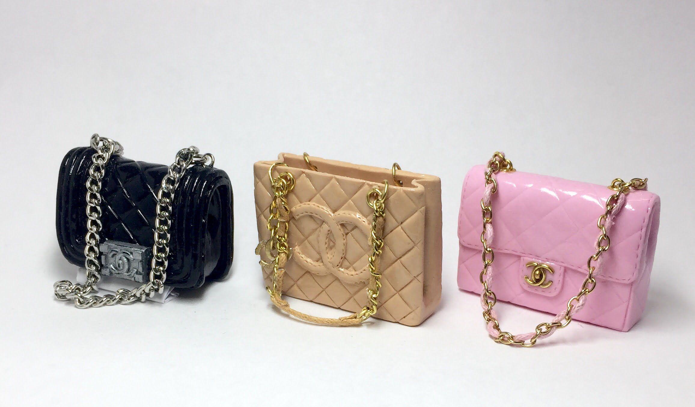 ff8caa5e2f5c96 Miniature Chanel Bag(Grand Shopping)/Polymer Clay Tutorial 폴리머클레이로 미니어쳐 .