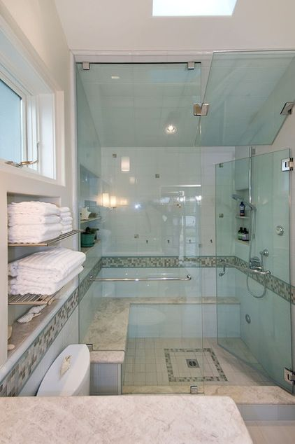 Get Steamy In The Shower For Spa Time At Home Pool House Bathroom House Bathroom Average Bathroom Remodel Cost