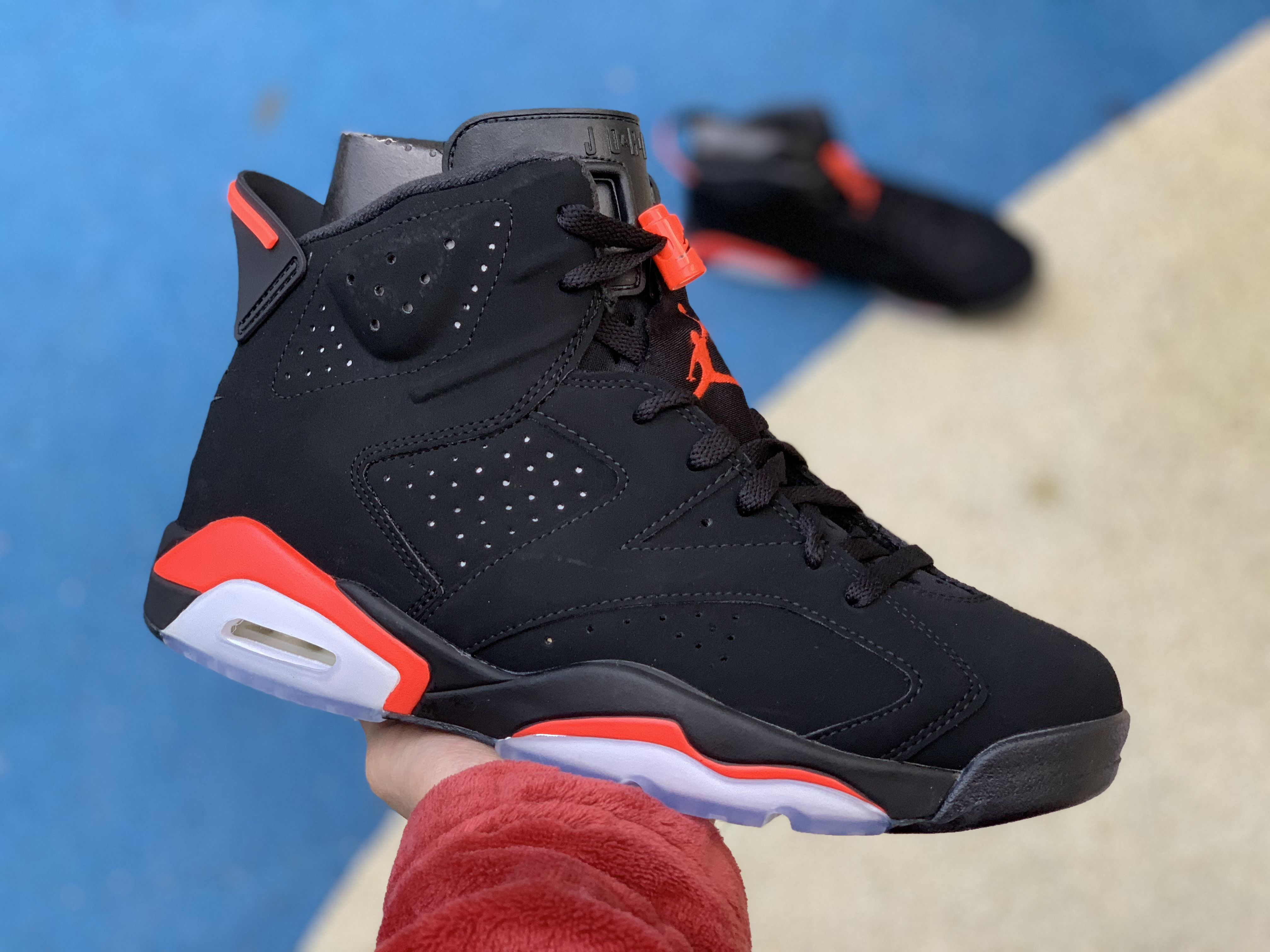 2cd585262de92 2019 Cheap Air Jordan 6 Retro Black Infrared 384664-060 in 2019 ...