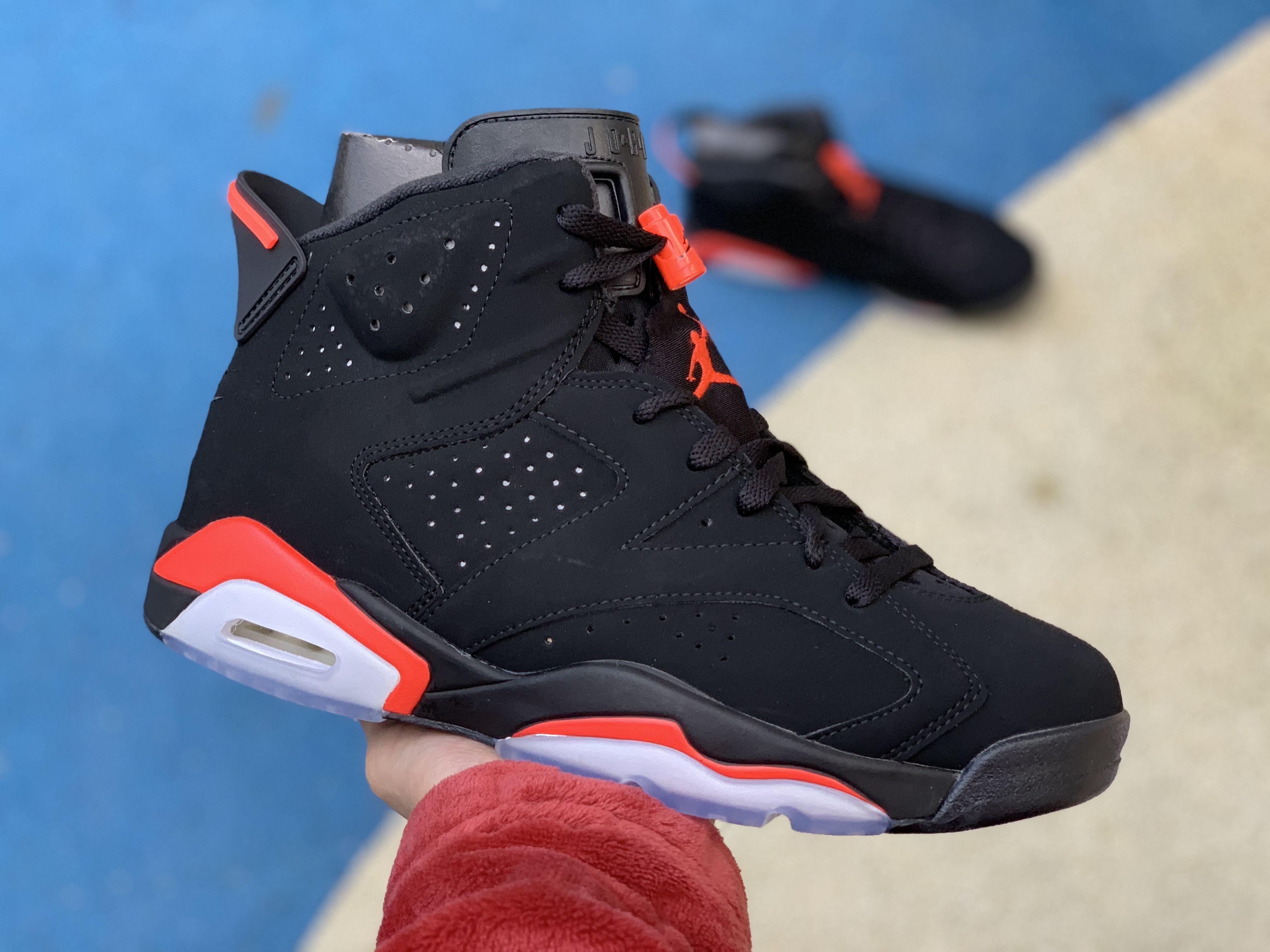 2019 New Release Air Jordan 6 Black Infrared 384664 060 Air Jordans Retro Air Jordans Nike Air Jordan 6