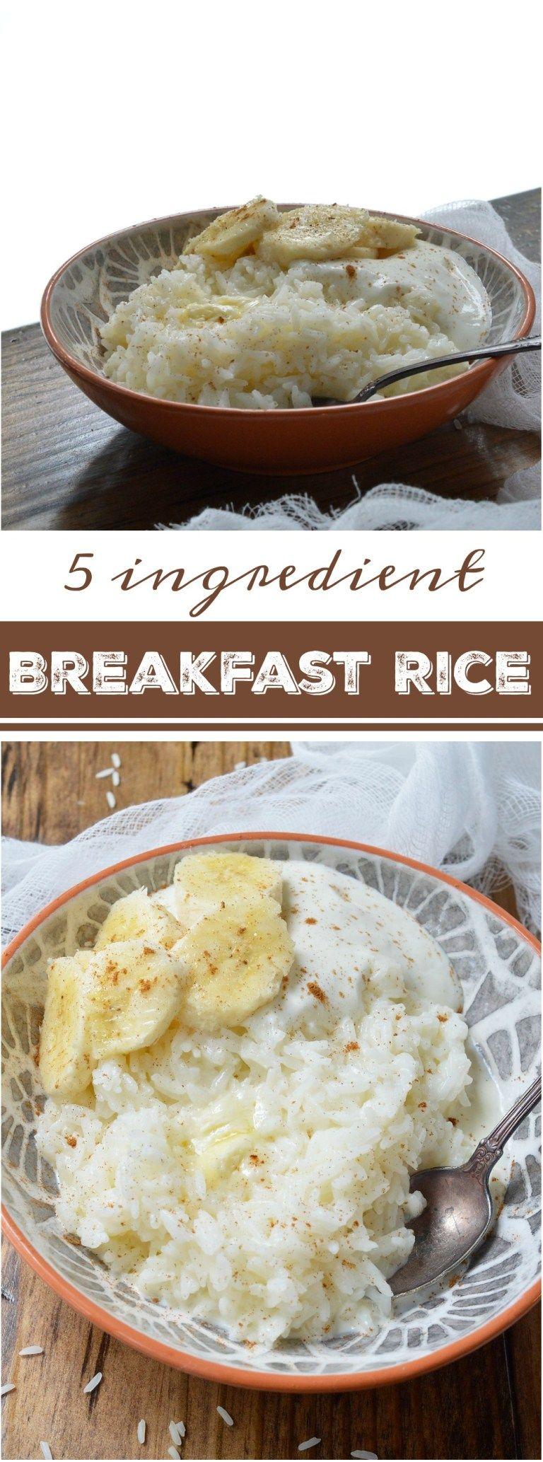 5 Ingredient Breakfast Rice #whitericerecipes
