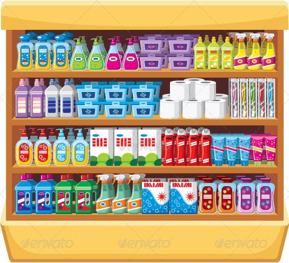 Shelves with Household Chemicals Fondos para videos
