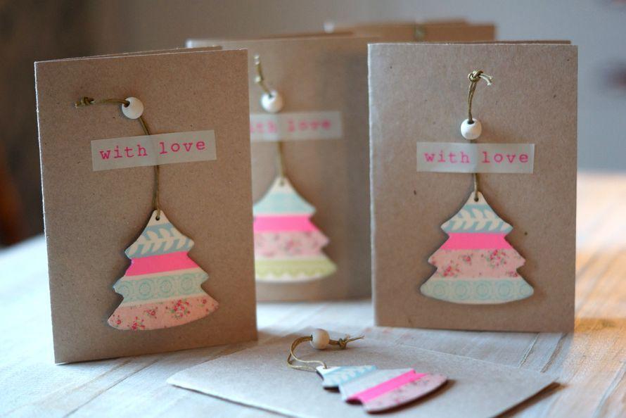 Lähetä joulukortin mukana kaunis itsetehty kuusenkoriste (malli2)