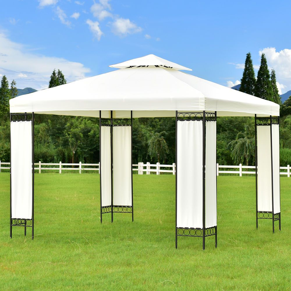 2 Tier 10 X10 Gazebo Canopy Shelter Patio Wedding Party Tent Outdoor Awning New Unbranded Outdoor Awnings Gazebo Gazebo Canopy