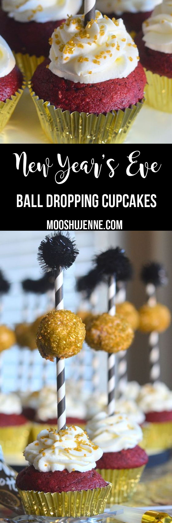 New year's eve ball dropping cupcakes | Recipe | New years ...