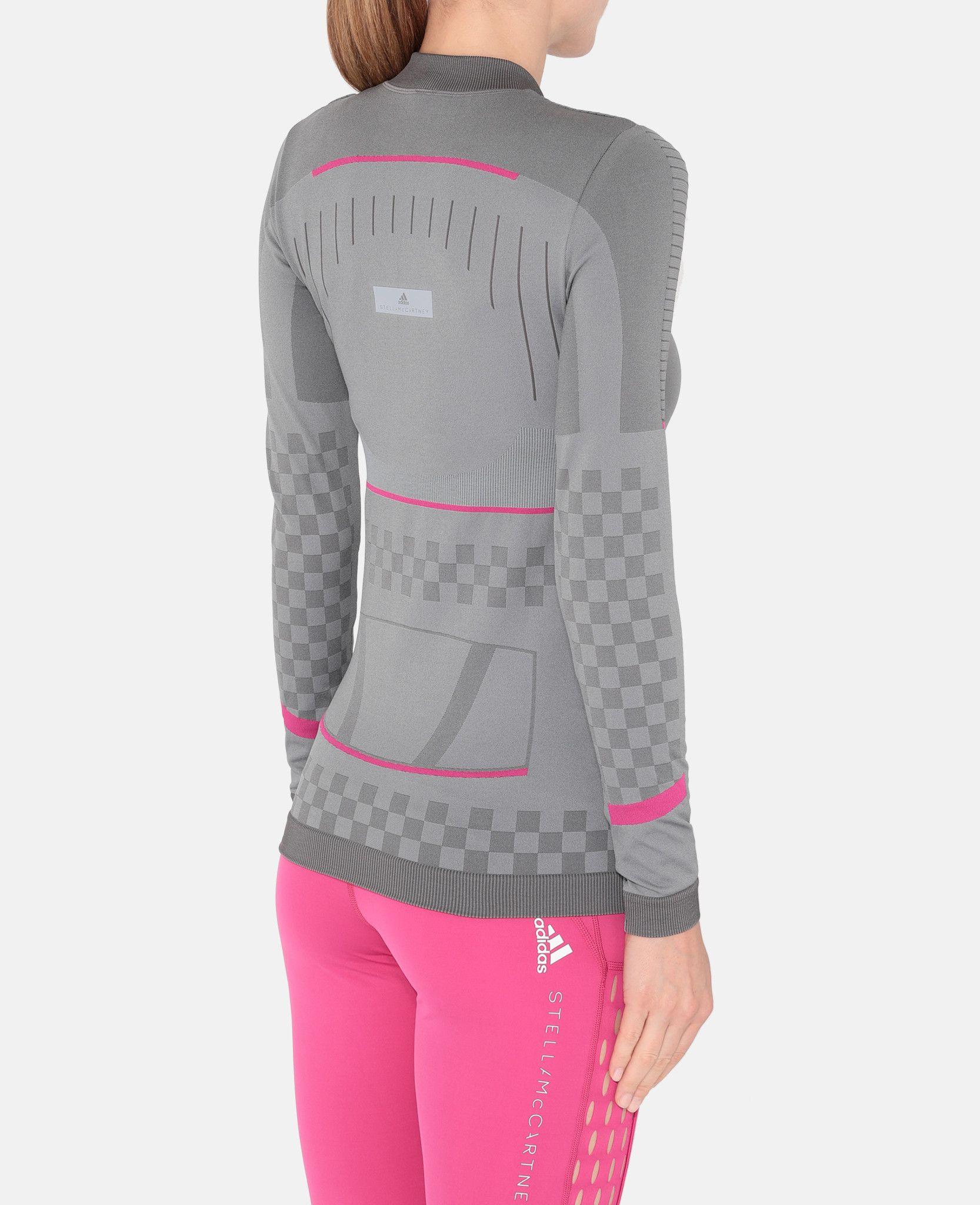 fd60f85e Gray Training Seamless Long Sleeve Shirt - ADIDAS by STELLA McCARTNEY