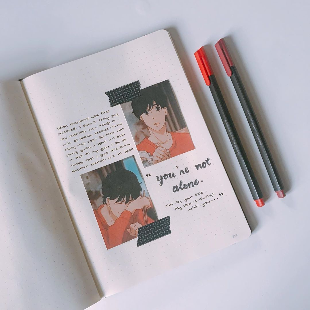 Bored Senpai On Instagram Giving Calligraphy Another Chance Anime Banana Fish Youtube C In 2021 Bullet Journal Books Bullet Journal Themes Scrapbook Journal