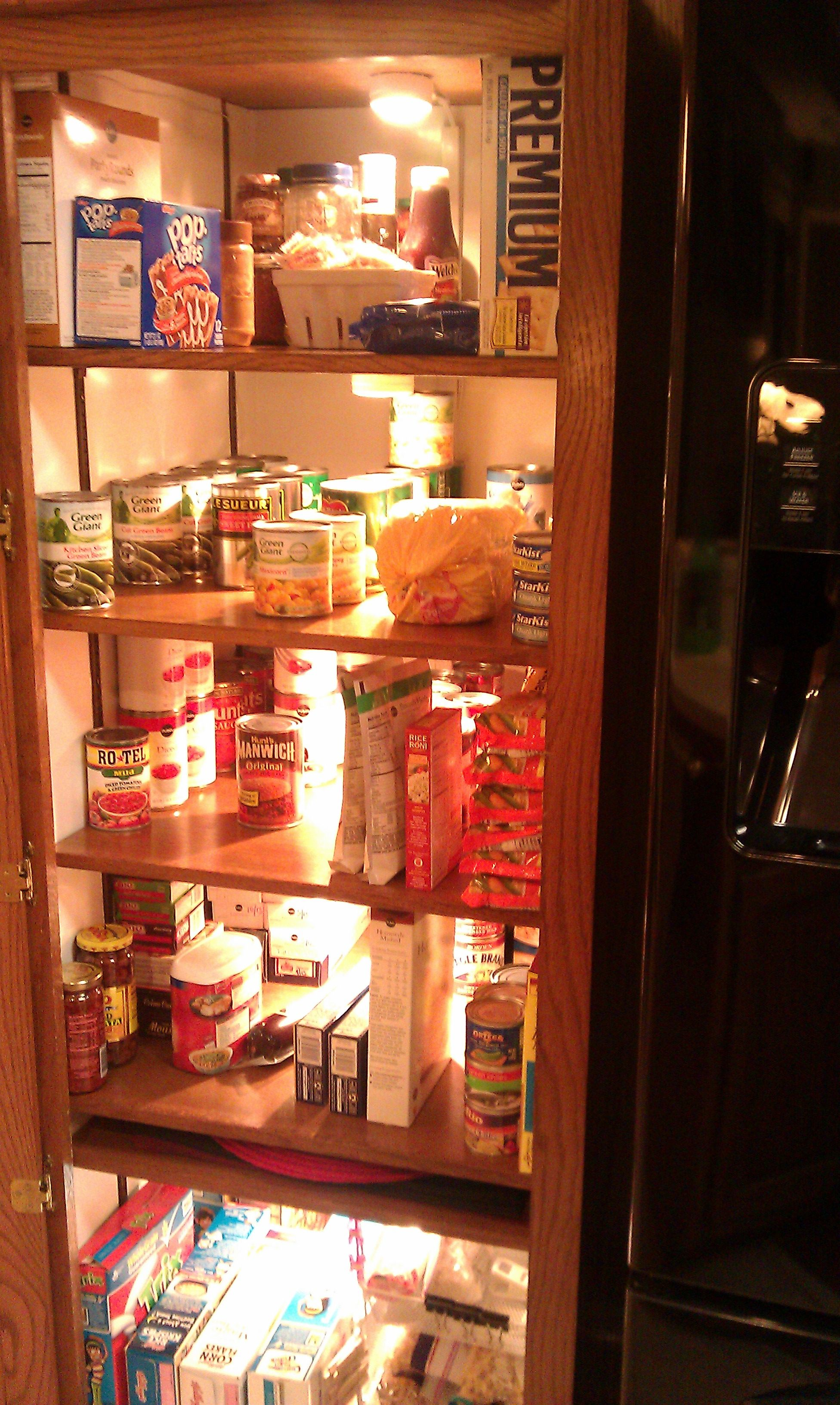 So much easier to find items in the pantry since smart husband added