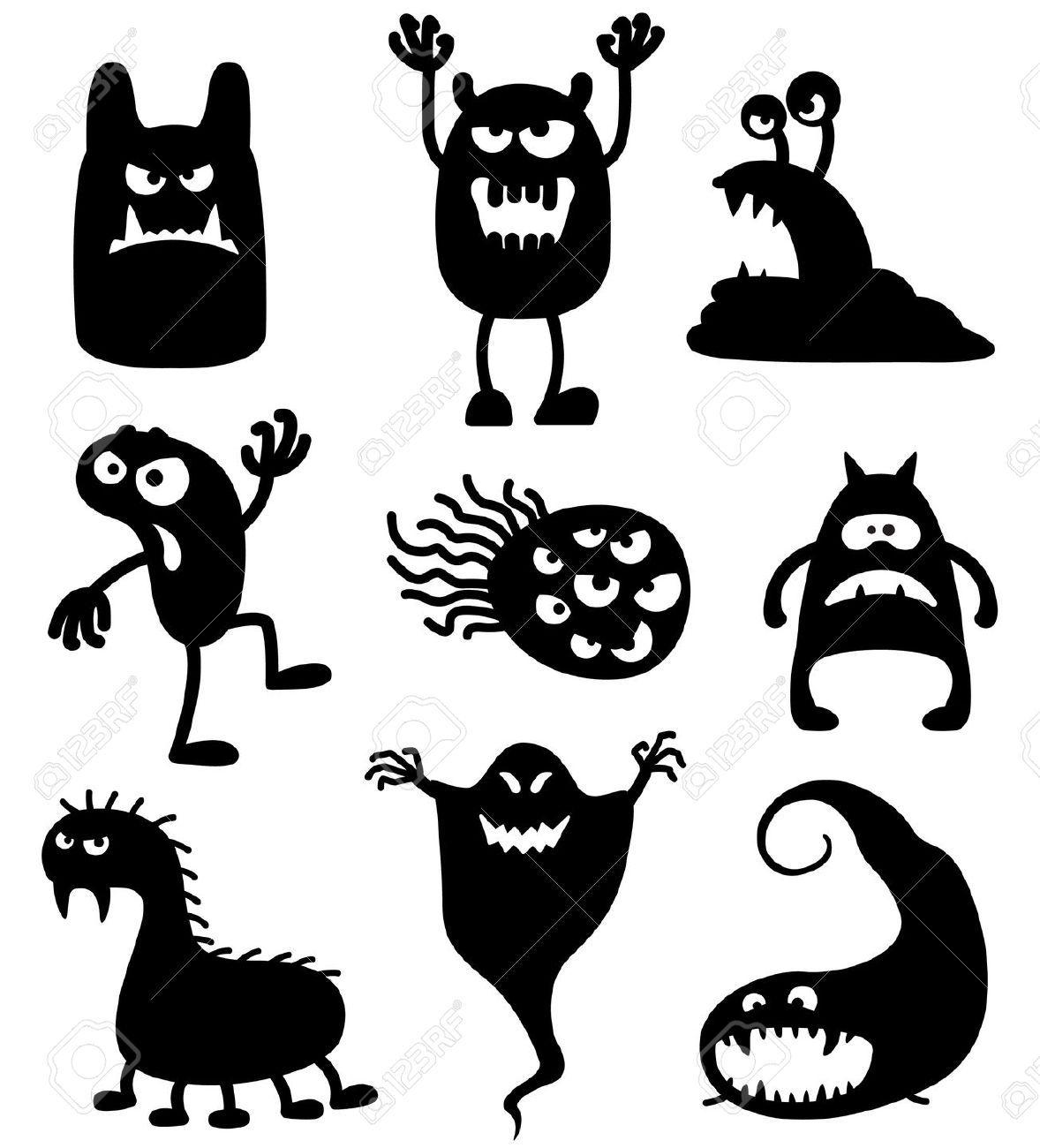 monster silhouette Googlehaku Halloween silhouetten