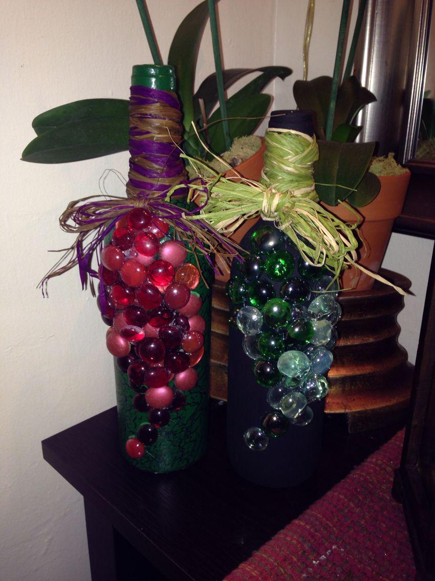 Botellas de vino decoradas ideas para el hogar pinterest - Botellas de vino decoradas ...