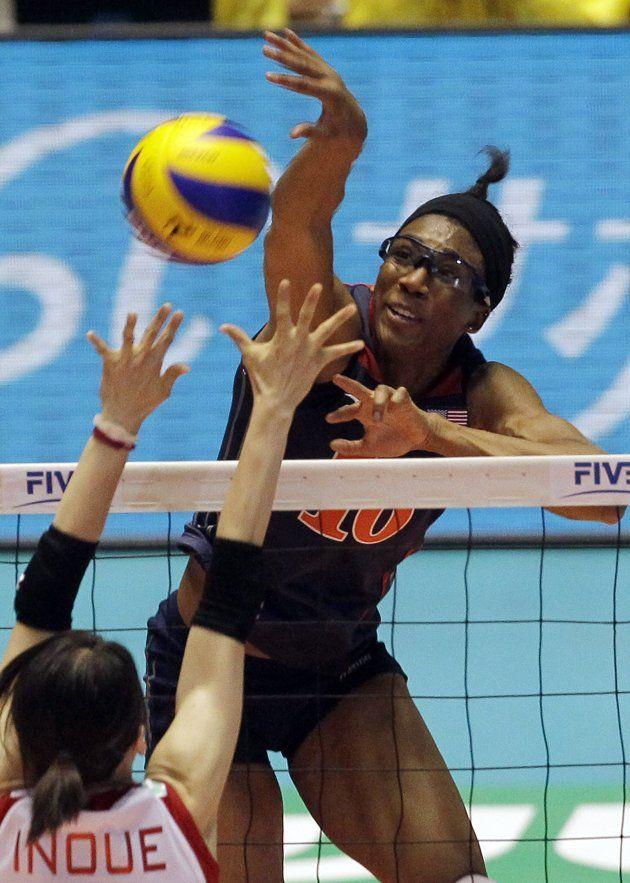 Foluke Akinradewo Middle Blocker Women Volleyball Volleyball Volleyball Team