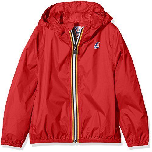 K-Way Men/'s LE Vrai 3.0 Claude Packable Jacket Red