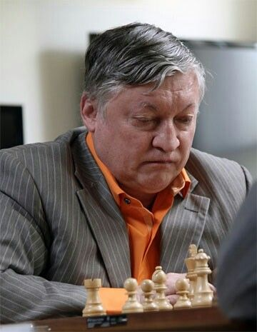 Anatoly Karpov, 61, rated 2615, in action in 2012