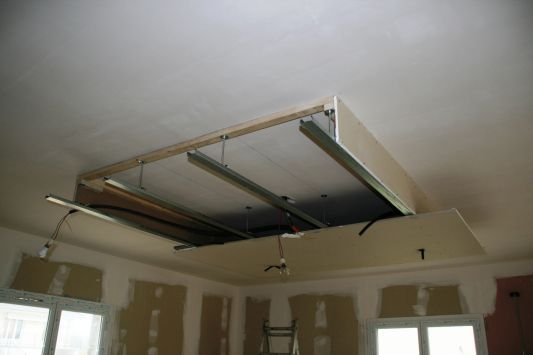 Installation faux plafond home cinema pinterest faux for Caisson lumineux plafond