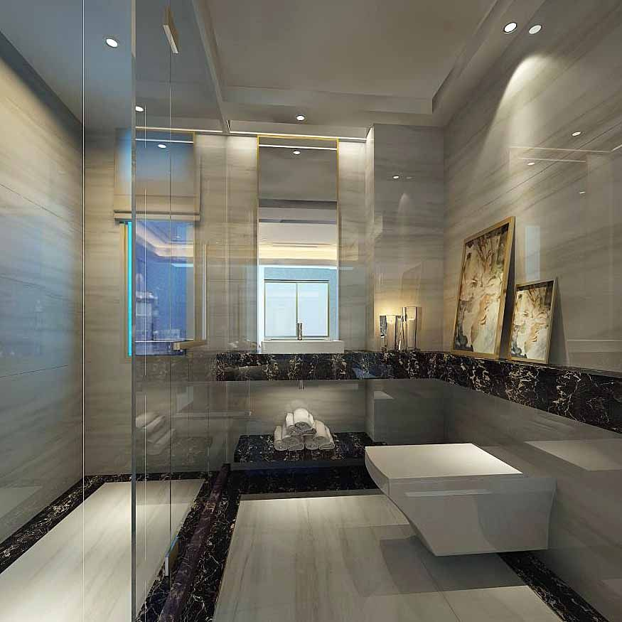 A Large Luxury Shower Room Featuring Porcel Thin Marmara