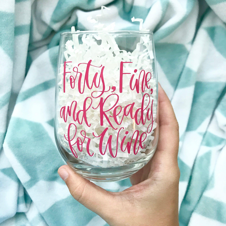 40th birthday wine glass 40th birthday gifts for women