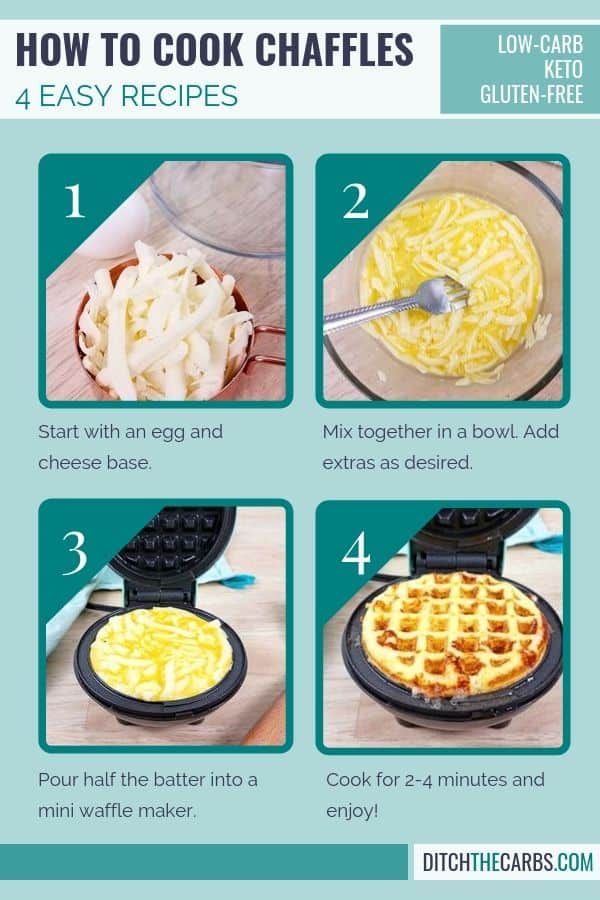 How to Make Chaffles 4 Ways + Video + FREE cookbook