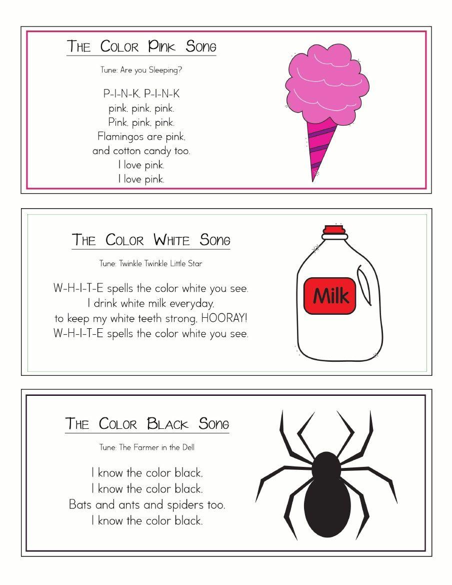 Colors preschool songs - Color Songs Ring