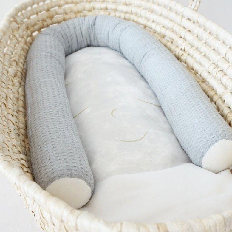 Bettschlange 200 cm Neu 100/% Baumwolle Bettumrandung Bettrolle Kopfschutz