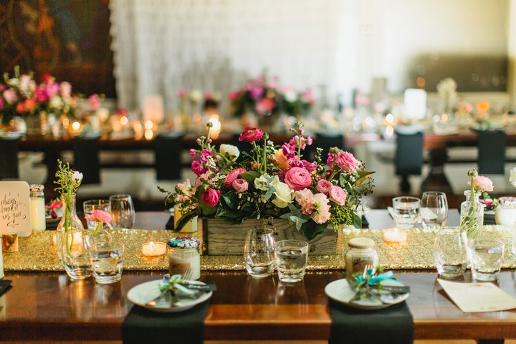 sparkly details with beautiful pink tone in flowers.   Photography by finch and oak.