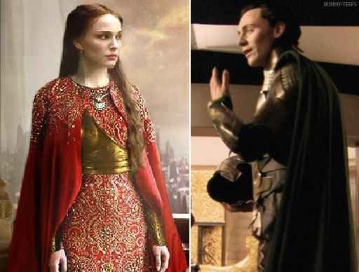 In which Jane is looking very pretty and completely unimpressed by whatever Loki's telling her.