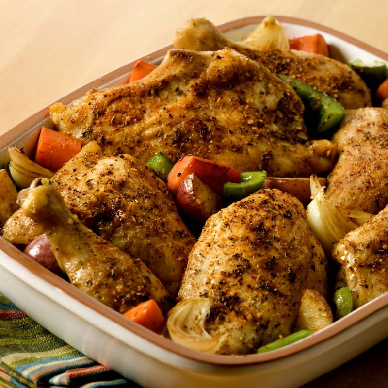 35 Dinners You Can Make With A Pound Of Chicken: Herb Roasted Chicken & Potatoes