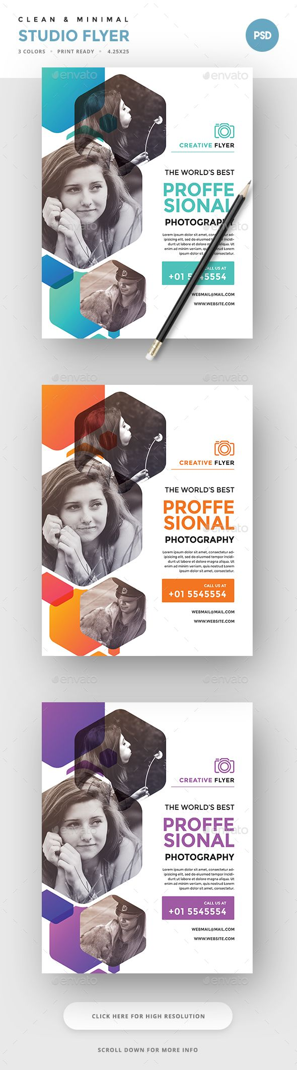 Photography Flyer | Photography flyer, Flyer template and Template