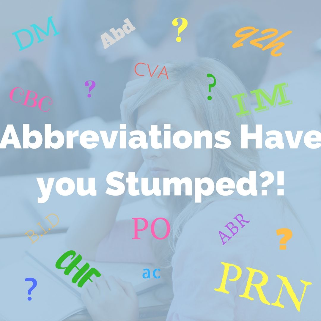 S with line on top medical abbreviation - Abbreviations And Med Term Are Not Only An Important And Quicker Way To Chart But