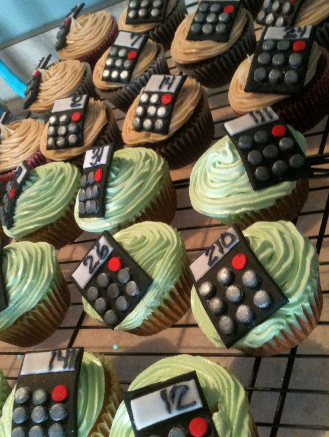 2014 graduation decorations - Calculator Cupcakes Accountant Teacher Graduation Student Math