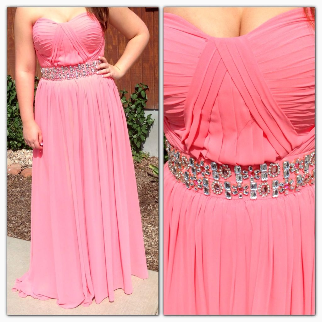 Coral gown size 10. Prom homecoming sweethearts formal dress | Bling ...