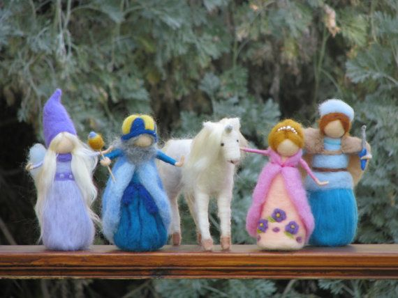 Needle felted fairy tale $165