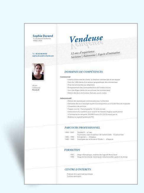 Creation Modele Cv Original Et Lettre De Motivation Cv Vendeur Modele Cv Modeles De Lettres