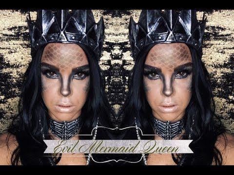 evil mermaid queen  halloween makeup  mermaid makeup