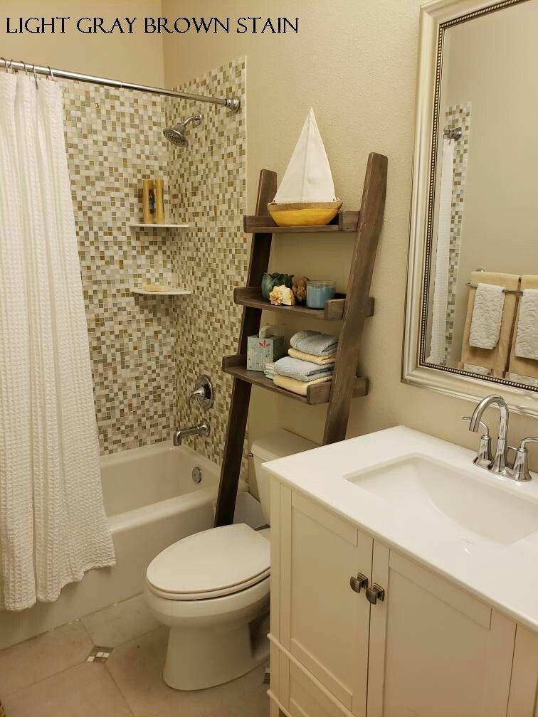 Leaning Ladder Shelf Bathroom Space Saver Leaning Ladder Shelf Bathroom Decor