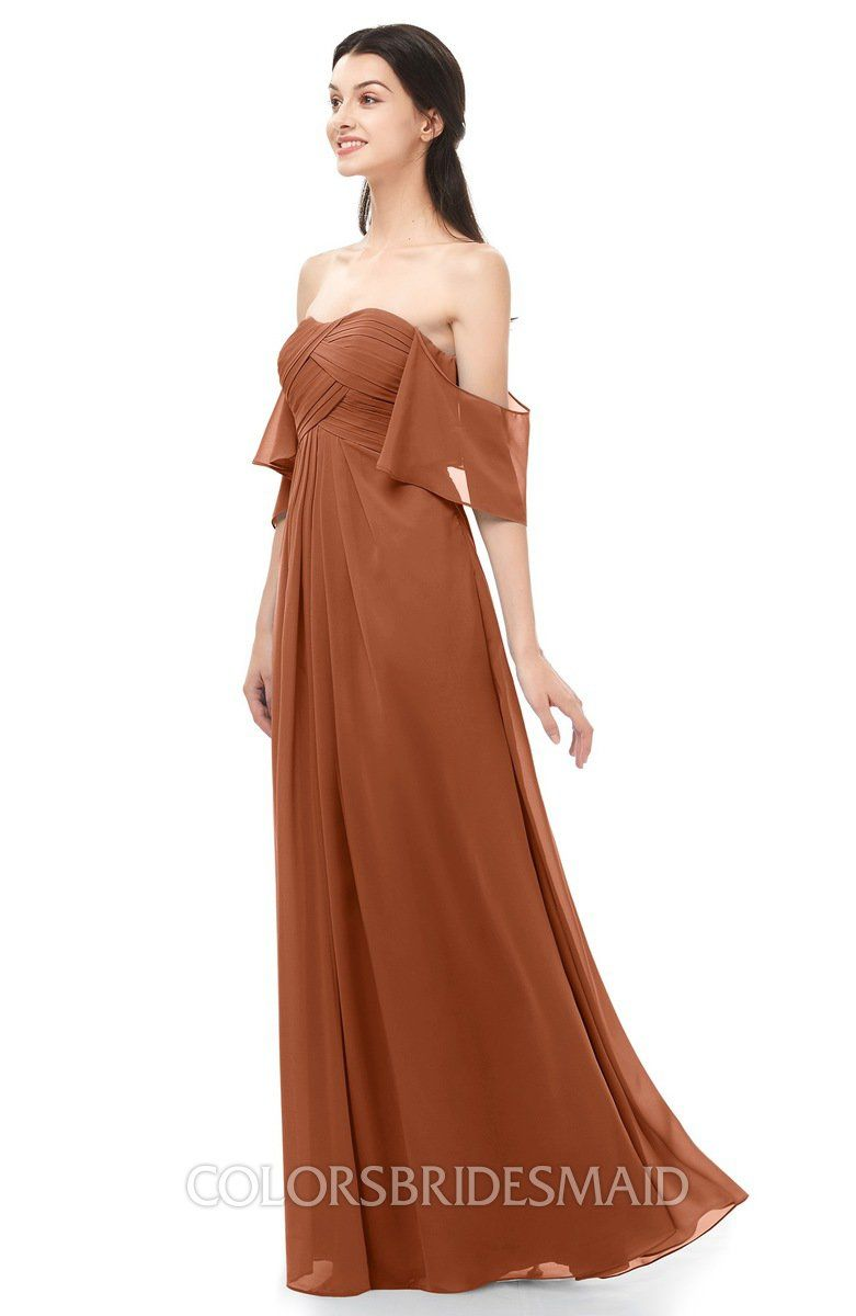 f3b4a1252abdc ColsBM Arden Bridesmaid Dresses Ruching Floor Length A-line Off The  Shoulder Backless Cute