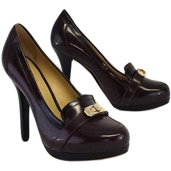 2c93cdf2c94f Pre-owned Coach- Brown Leather Loafer Pumps Sz 6.5 ( 65) ❤ liked on ...