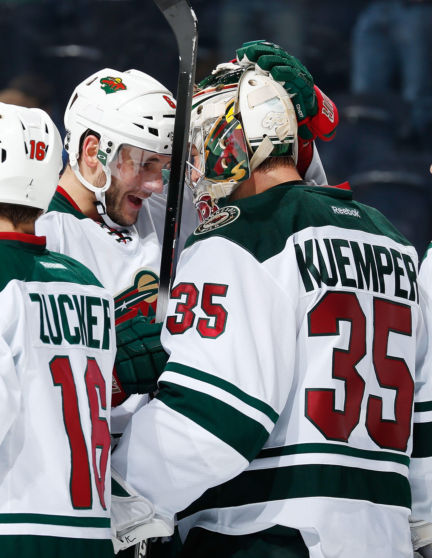 Quick Bonding Moment Between A Goalie And His Defenseman Mnwild Wild Hockey Minnesota Wild Hockey Goalie