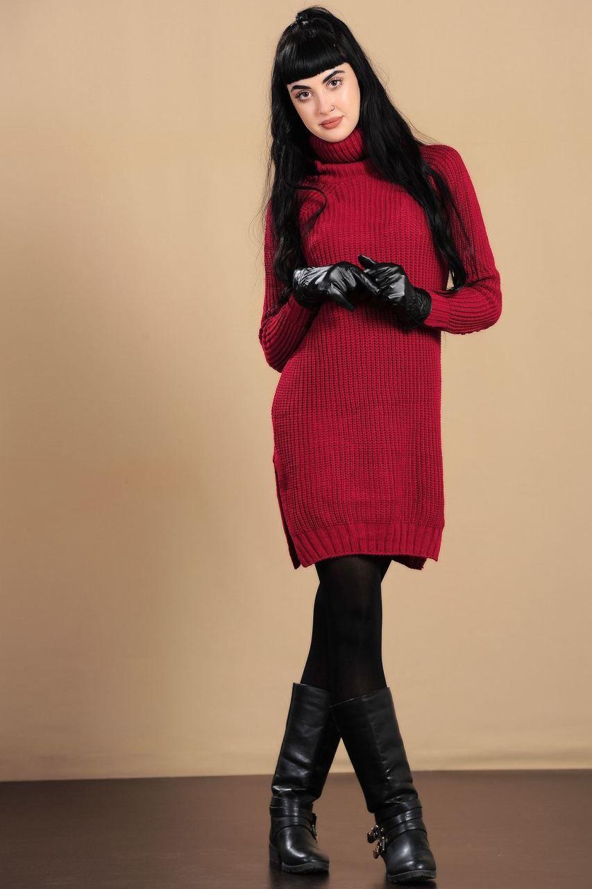Uzun Bogazli Bordo Triko Kazak Giyim Indirim Kampanya Bayan Erkek Bluz Gomlek Trenckot Hirka Etek Yelek Mont Kase Kaban Elbise Triko Moda Giyim