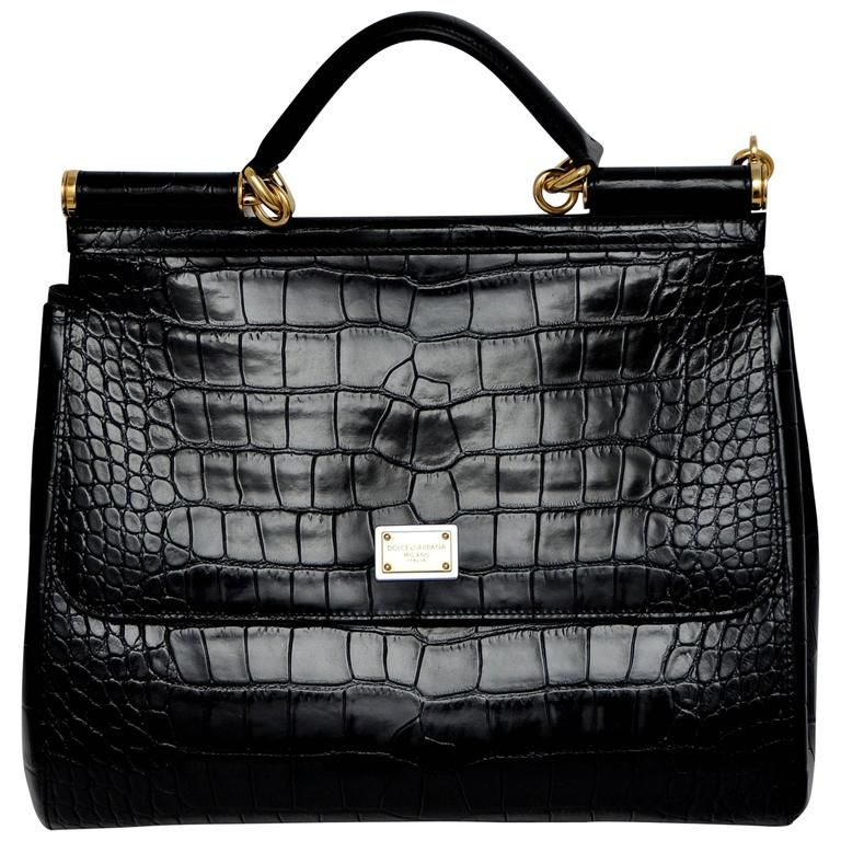 518a1b18929a ... Gabbana crocodile Miss Sicily handbag. Dolce