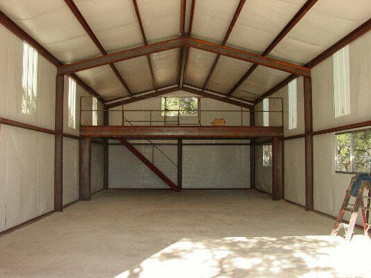 Metal Building With Loft Gambrel Roof Or Gable With Tall