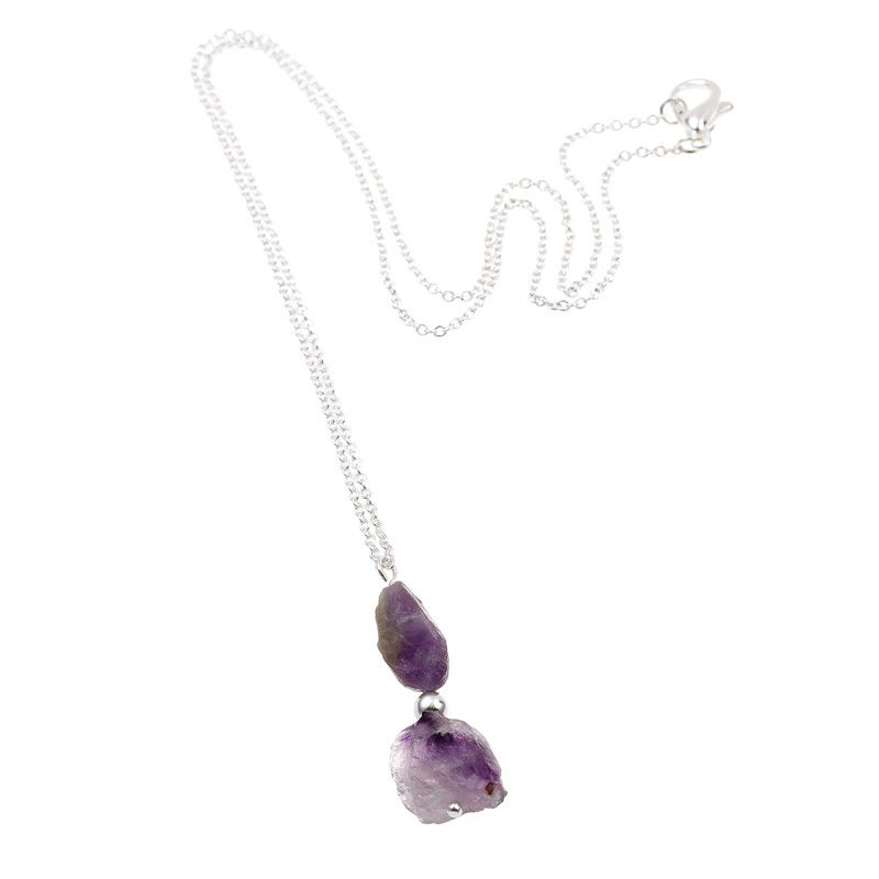 Collier #Bohème en pierre naturelle,couleur #violet pour femmes .Neuf sous blister.       Longueur de la chaîne: 42cm      Type de chaîne: Chaîne à billes      Type de métaux: Alliage de zinc