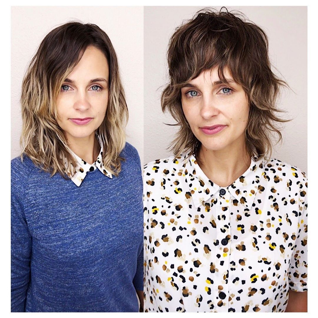 """French Bohemian Hair on Instagram: """"Short shag for a total transformation ❤️ She flew from Dallas to see me! The grow out into a longer shag will be insanely gorgeous because…"""""""