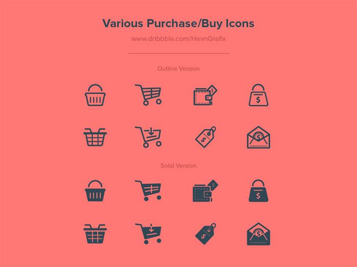 Purchase icons.