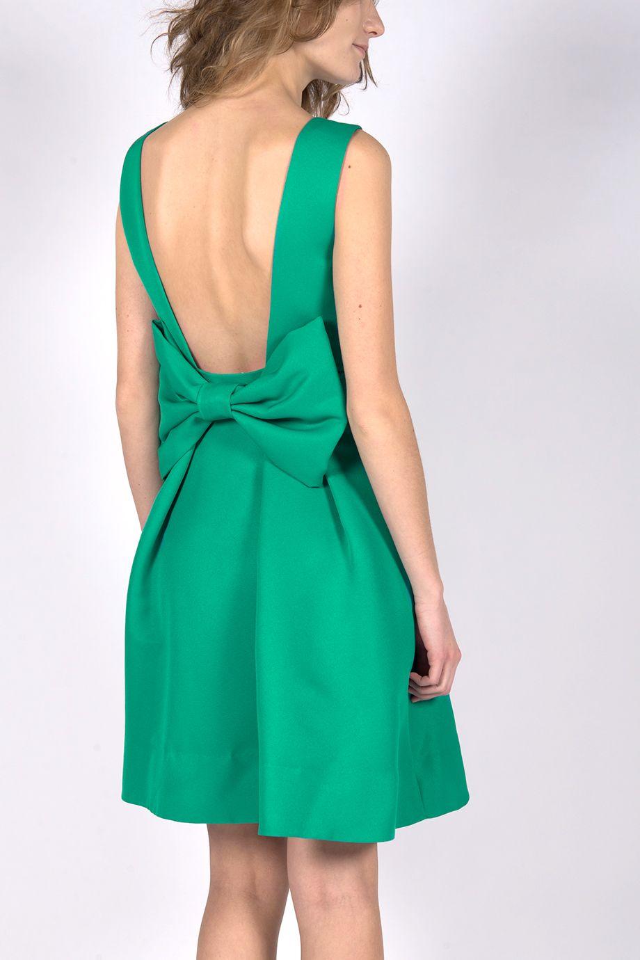 009c42c5a82 Location de cette superbe robe Sinéquanone verte au grand dos nu à noeud