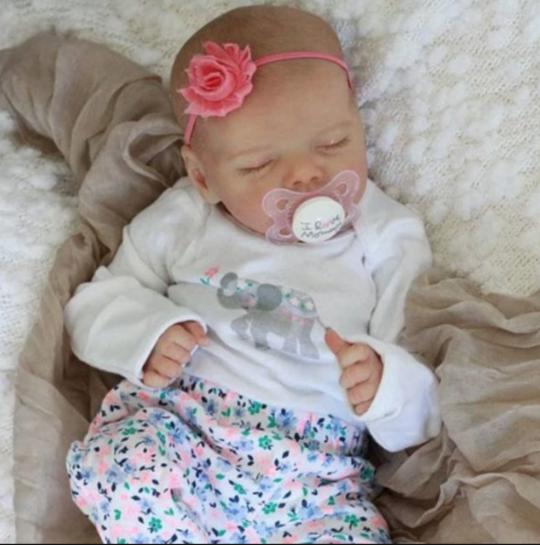 17 Rebekah Reborn Baby Doll Girl Newborn Baby Dolls With Clothes Silicone Reborn Babies Newborn Baby Dolls Reborn Baby Dolls